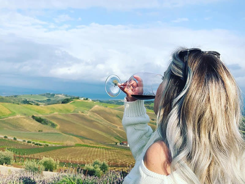 Wine Tasting Blonde in Paso Robles