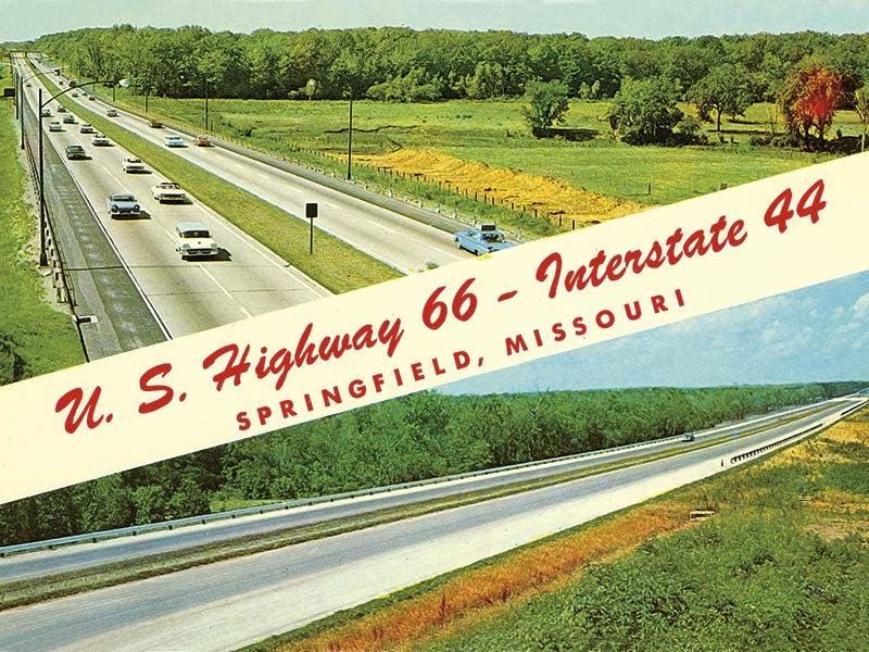 Route 66 postcard