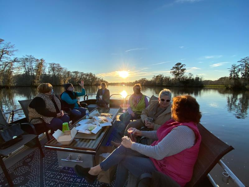 Pontoon boat tours of the Tchefuncte River in Madisonville