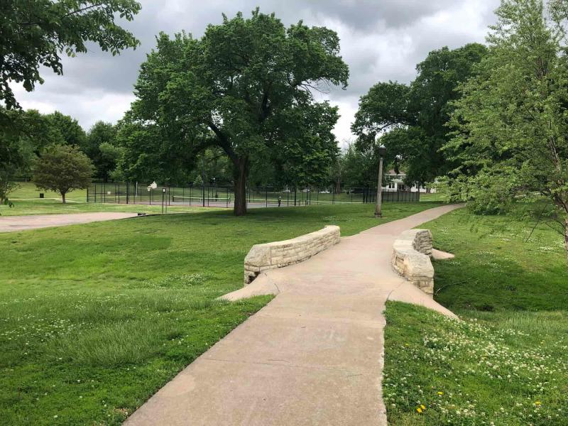 Walking Path at College Hill Park
