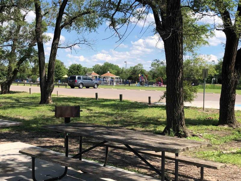 Playground and Picnic Tables at Sedgwick County Park