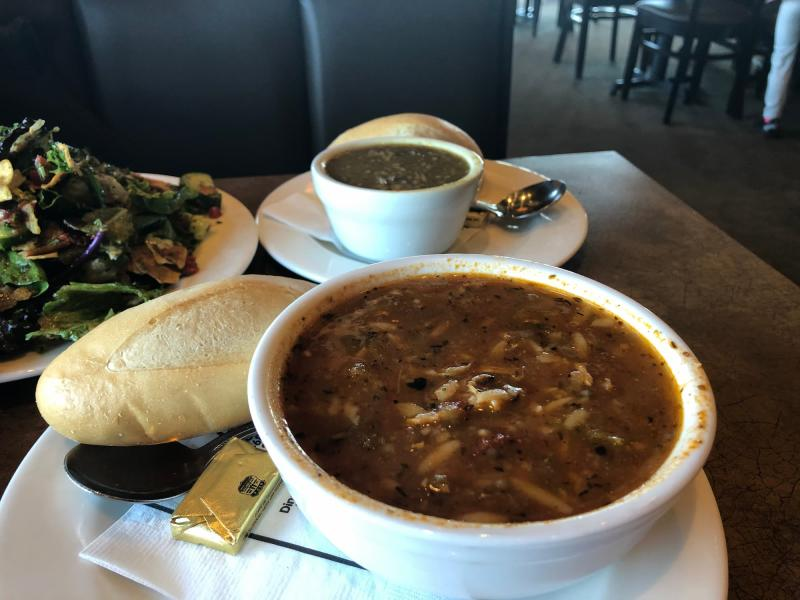 Chicken Gumbo and Lentil Soups from Bella Luna