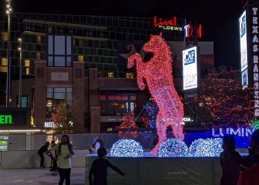 Photo of lighted horse at Luminova Holidays