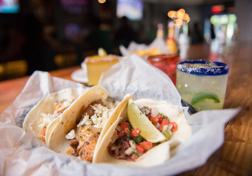 Tacos and margaritas at Cantina 76