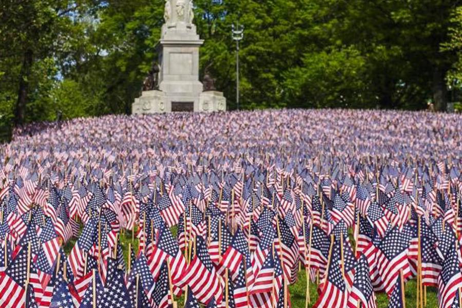 Boston Common flag Garden