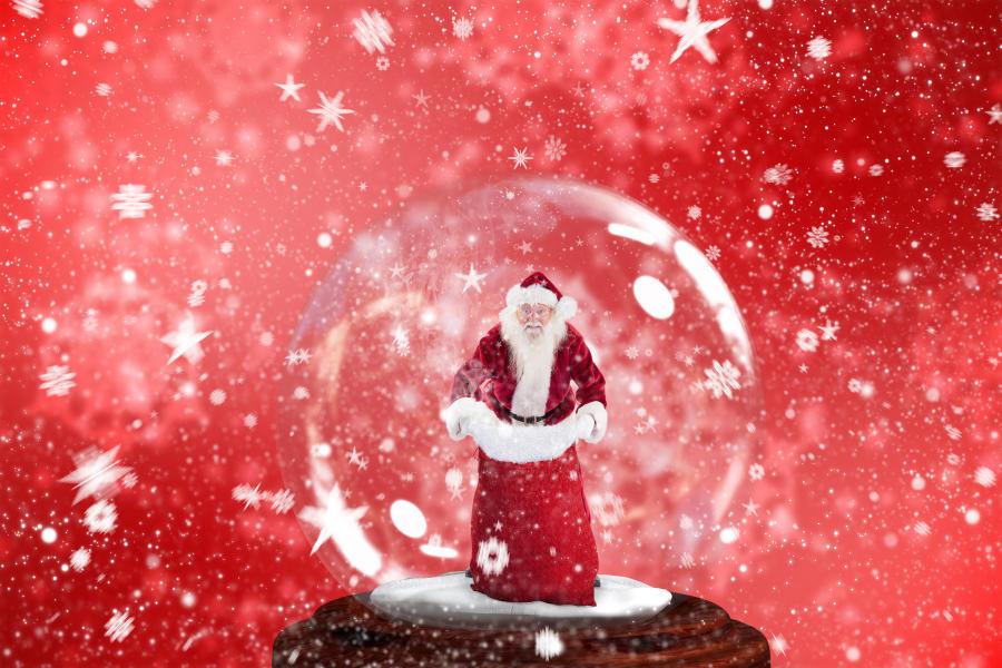 Santa in a Snowglobe
