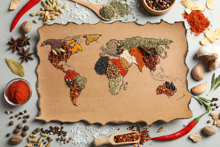 International Food Spices Stock