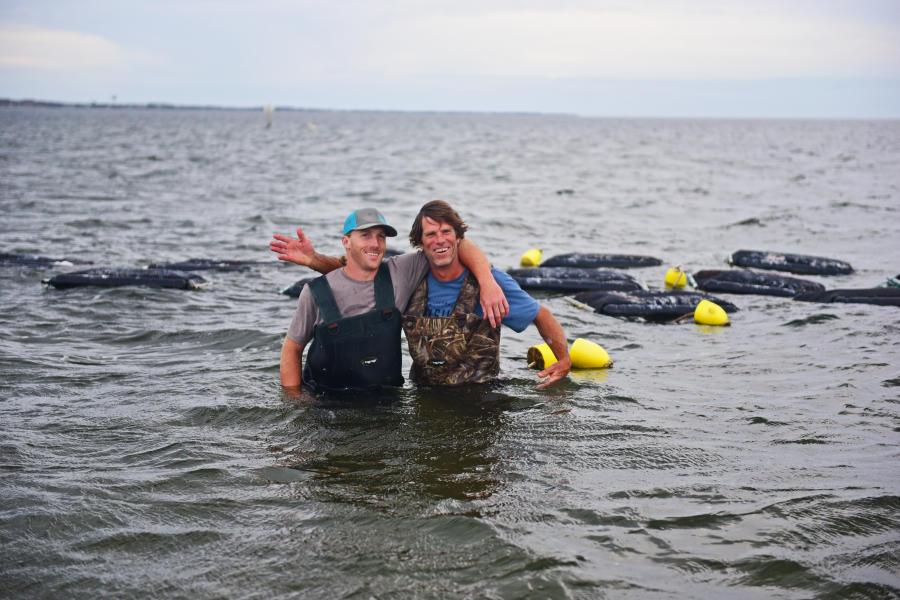 Cape Hatteras Oyster men water