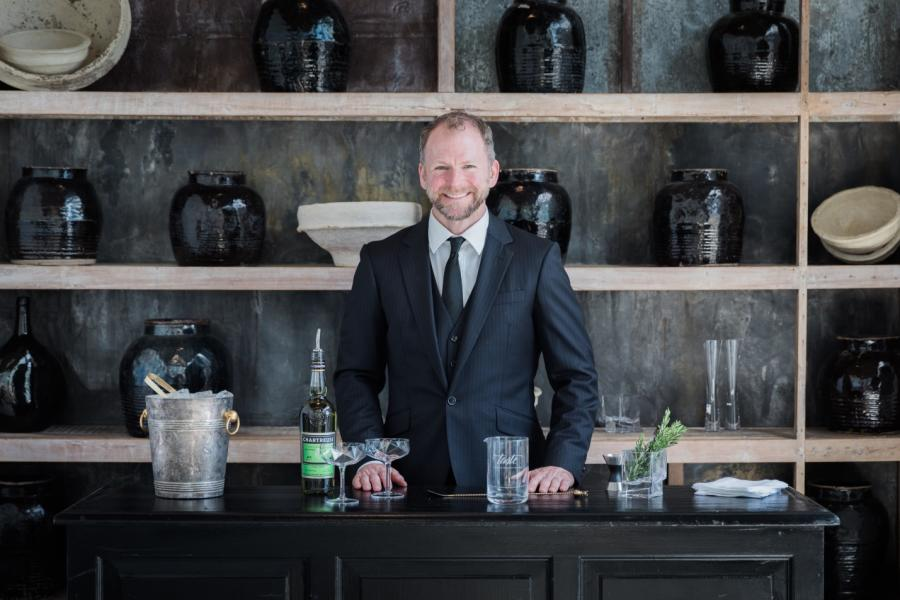 Host of the cocktail making class at Taste Catering