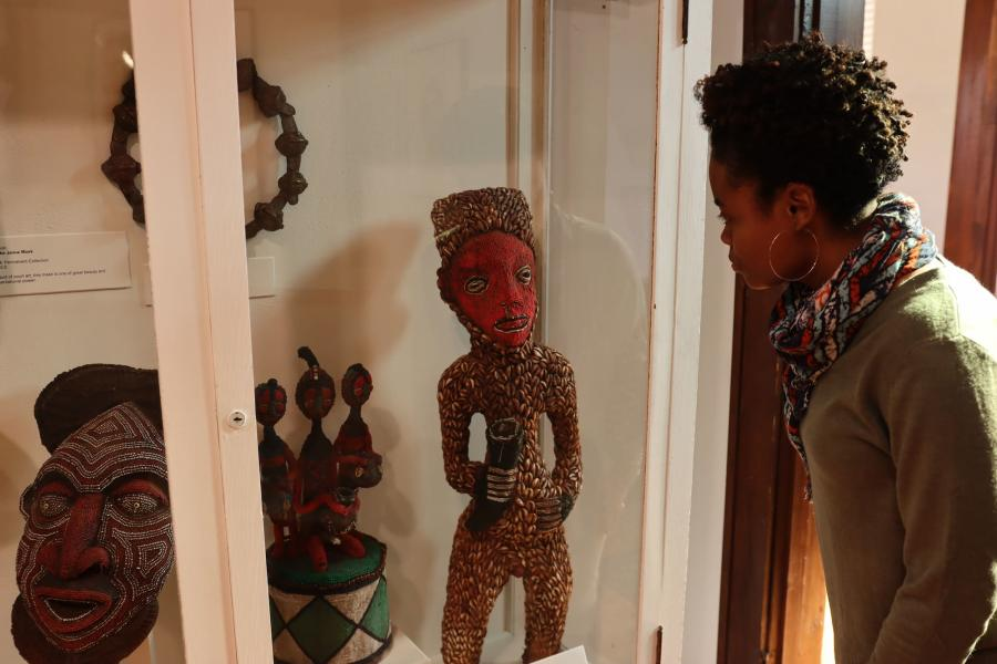 Woman Viewing Exhibit at The Kansas African American Museum