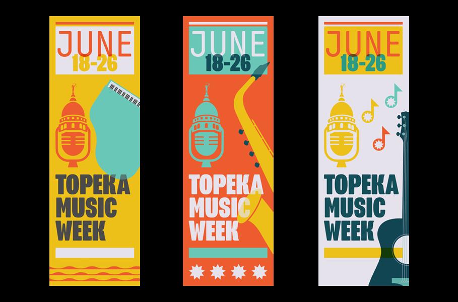 Topeka Music Week Banners | Topeka, KS