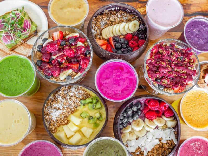 Spread of smoothie bowls from Soul Juice