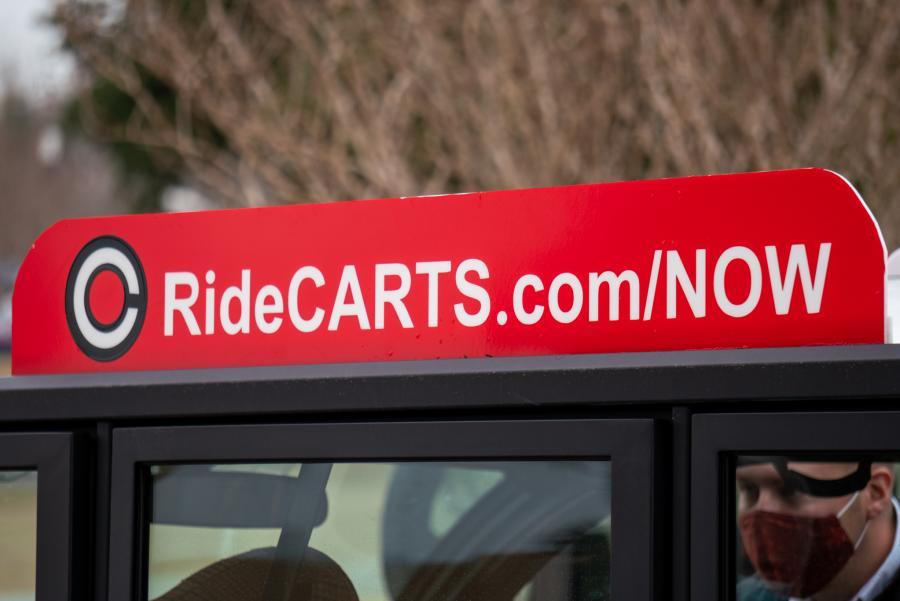 Ride Carts URL Sign