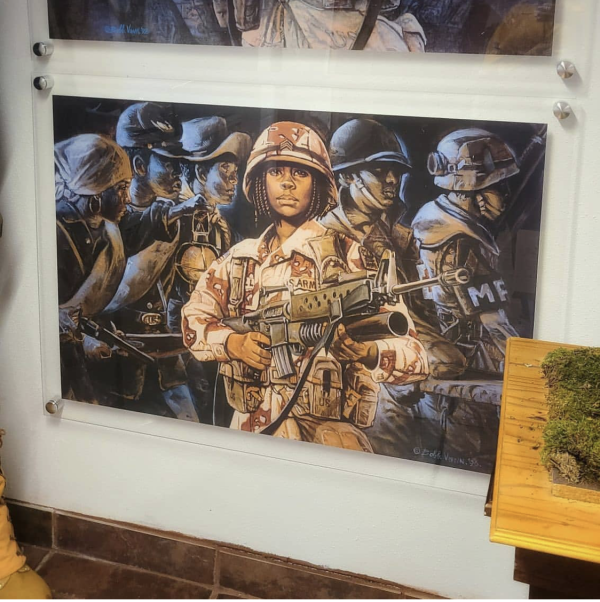 Artwork at the Buffalo Soldiers Museum in Houston, TX