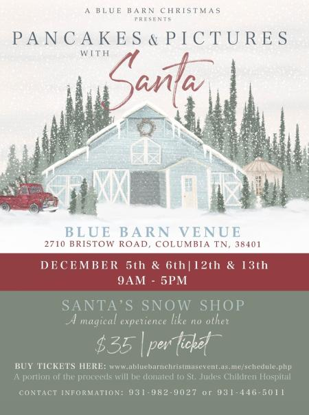 A Blue Barn Christmas Market and Winter Festival - Pancakes and Pictures with Santa