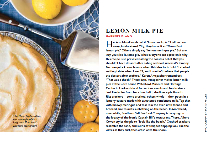 Our State - lemon milk pie