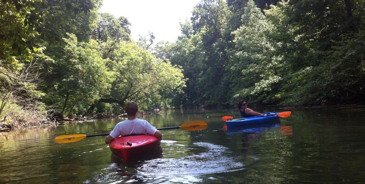 People Kayaking In Yellow Breeches In The Cumberland Valley