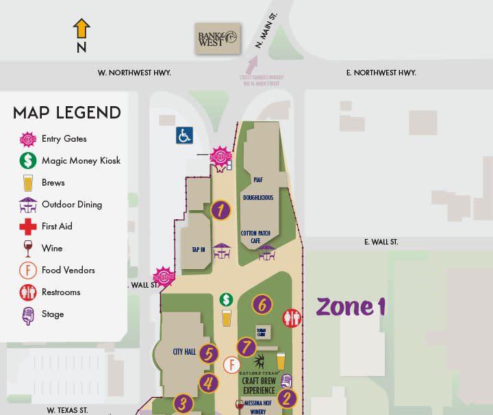 Main Street Fest Map 1