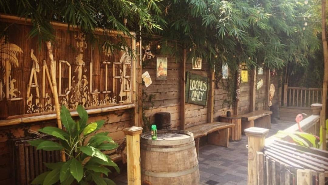 Lei Low tiki bar patio