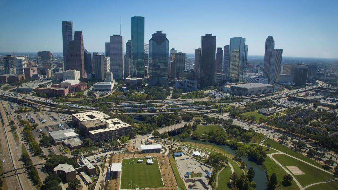 Houston Skyline Buffalo Bayou