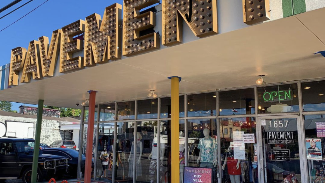 Pavement is a popular buy, sell, and trade store located in the historic Westheimer shopping center.