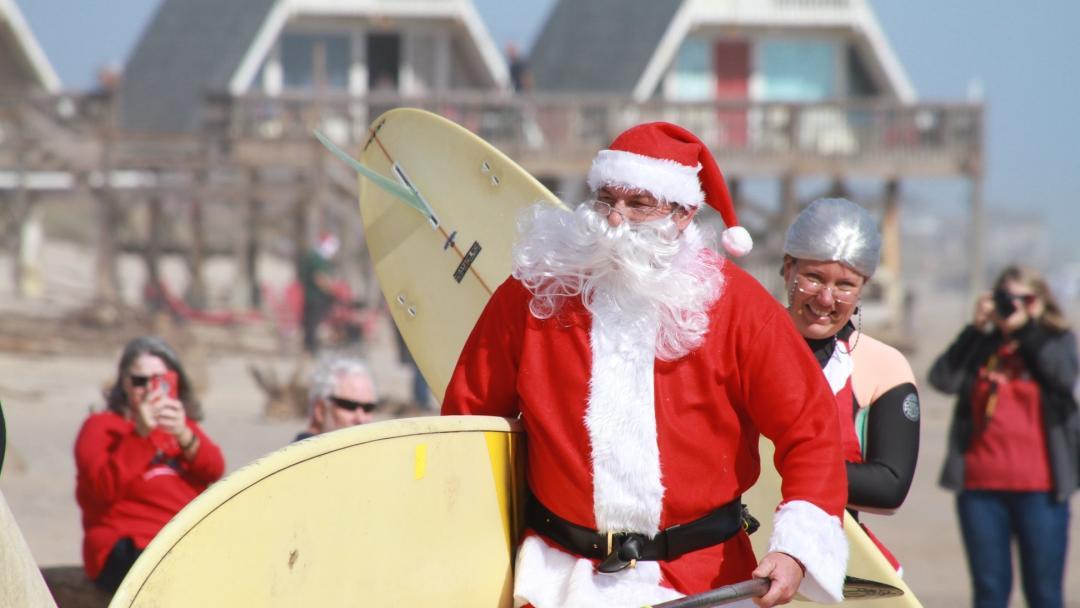 Surfing Santa in Brazosport