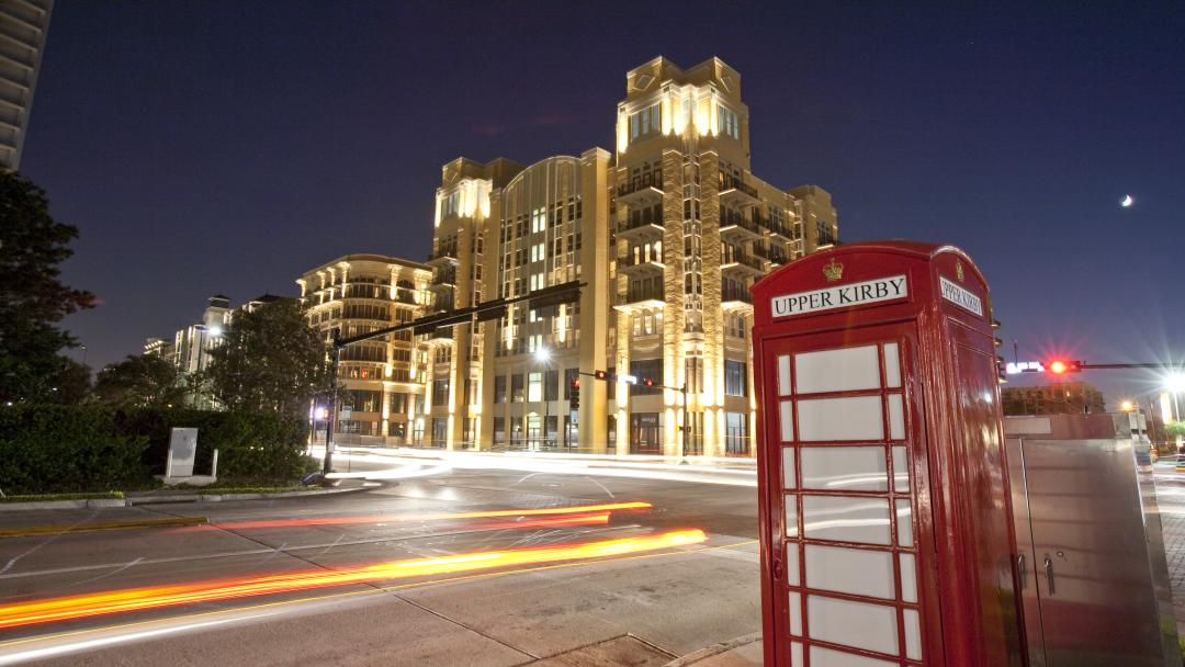 A telephone booth in Houston's Upper Kirby