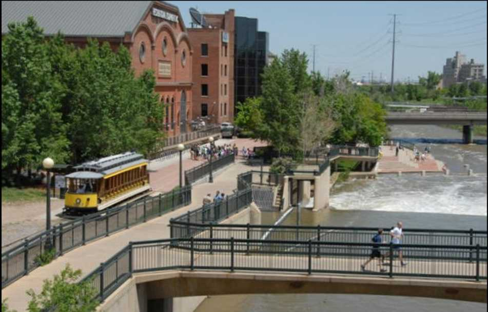 The Denver Trolley at REI.