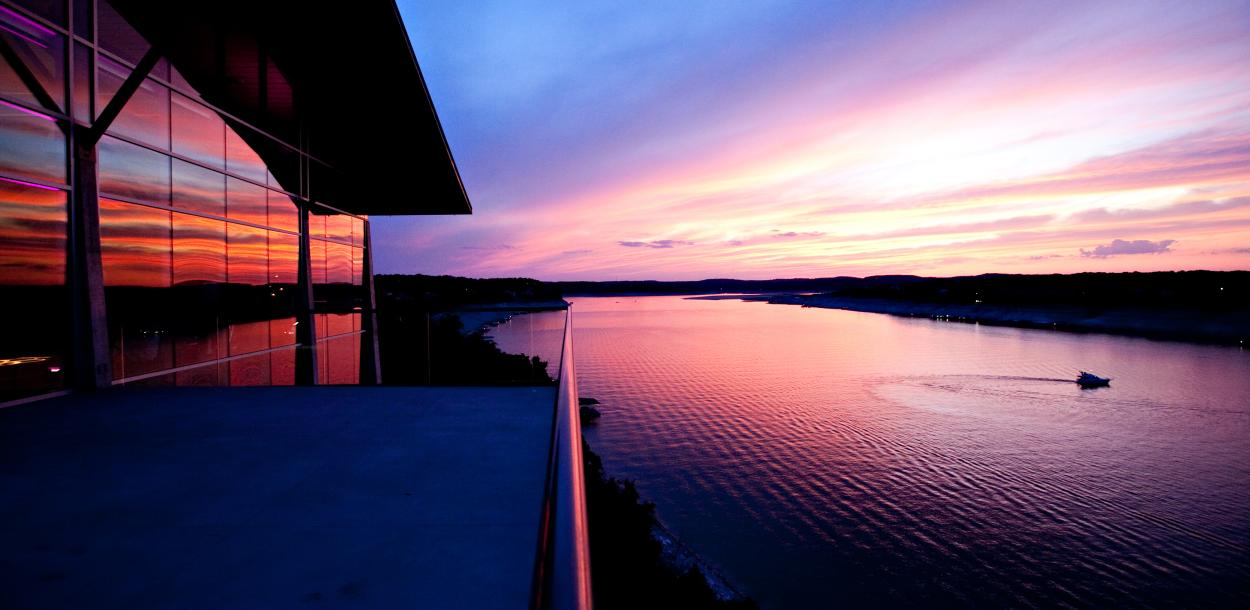 Sunset on the Back Porch at Lakeway Resort and Spa near austin texas