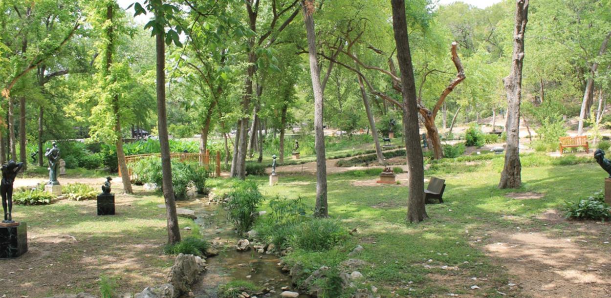 Garden at UMLAUF Sculpture Garden Museum in austin texas