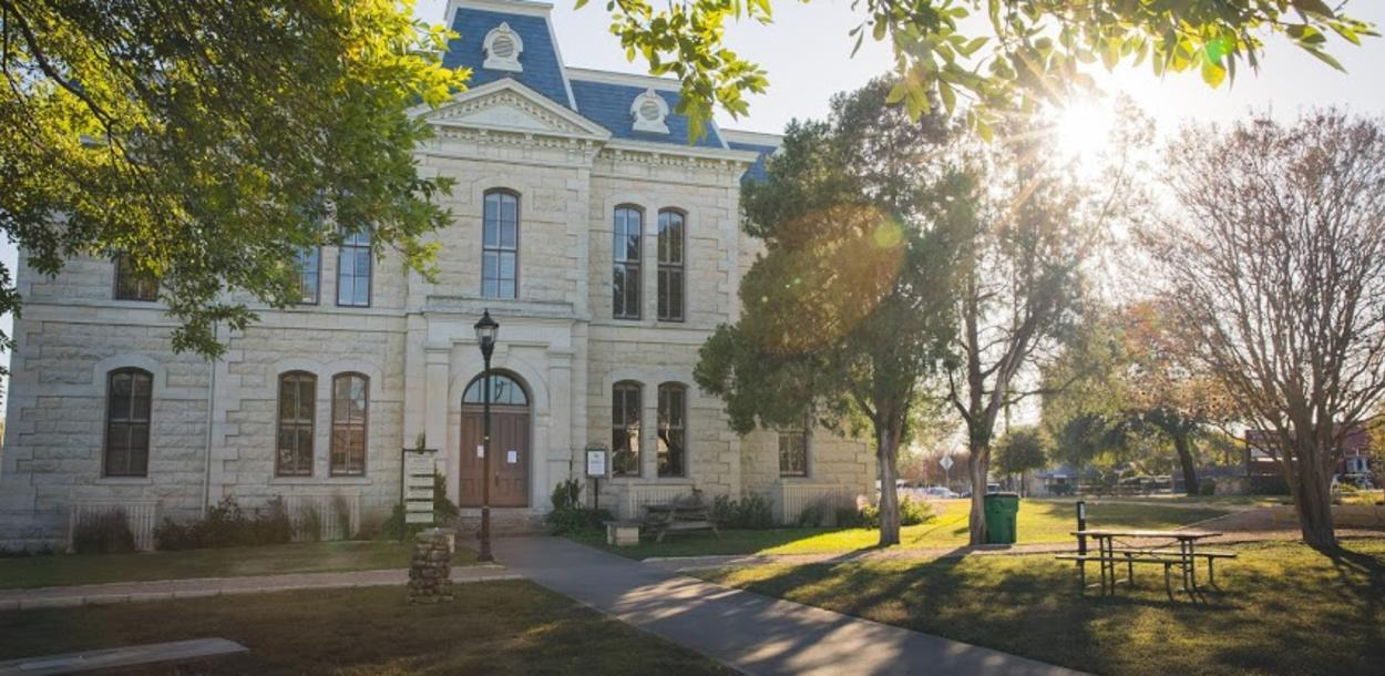 exterior of Old Blanco Courthouse in Blanco Texas