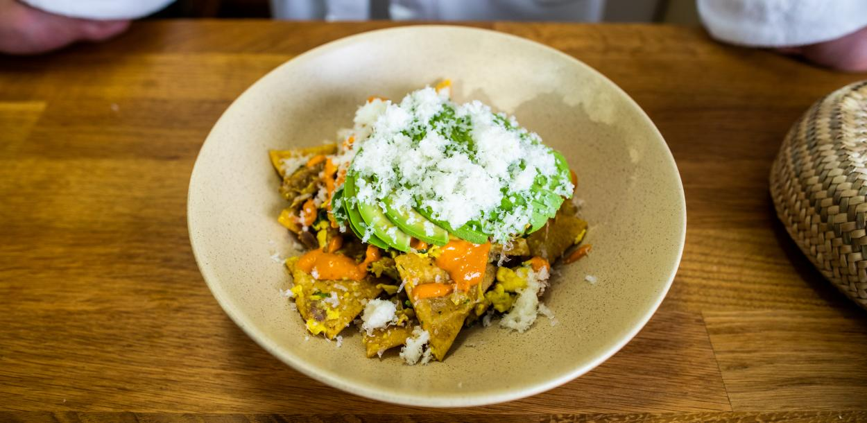 Migas by Chef Fermin Nunez of Suerte