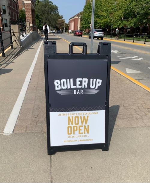 Boiler Up Bar Sign