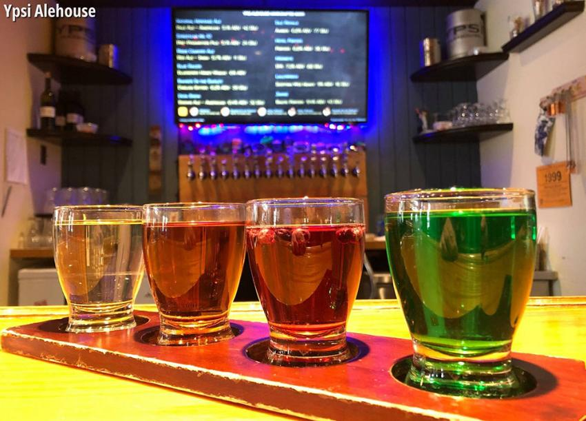 Ypsi Alehouse Beer Flight