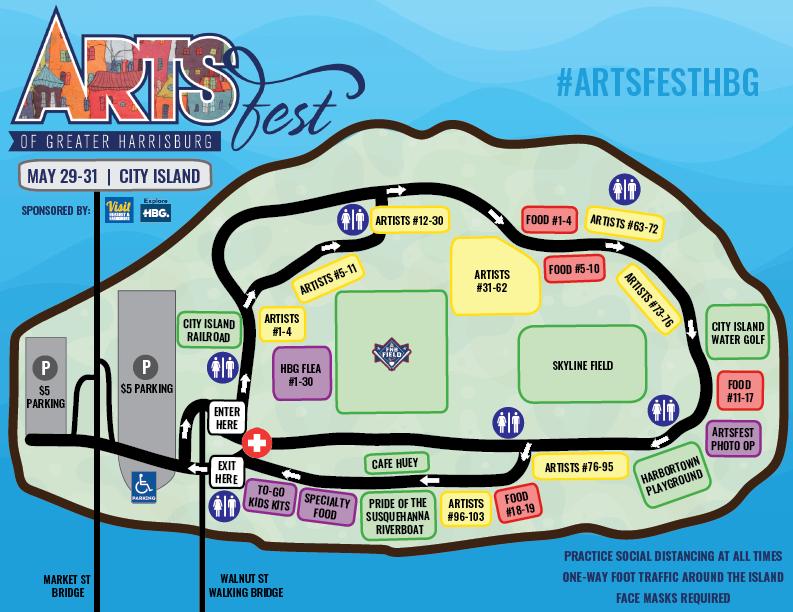 Harrisburg's Artsfest 2021 Map
