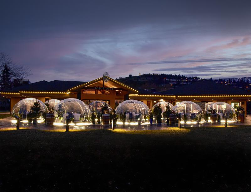 Frind Estate Winery - Bubble Domes