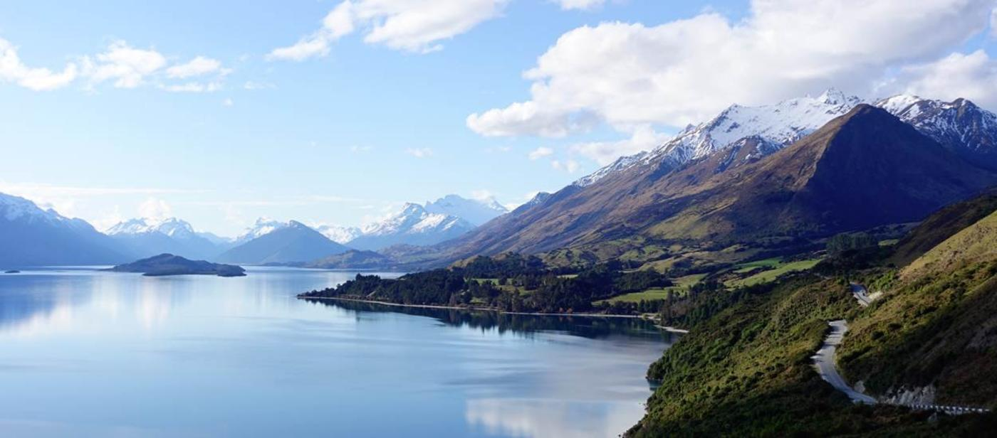 View from the road to glenorchy