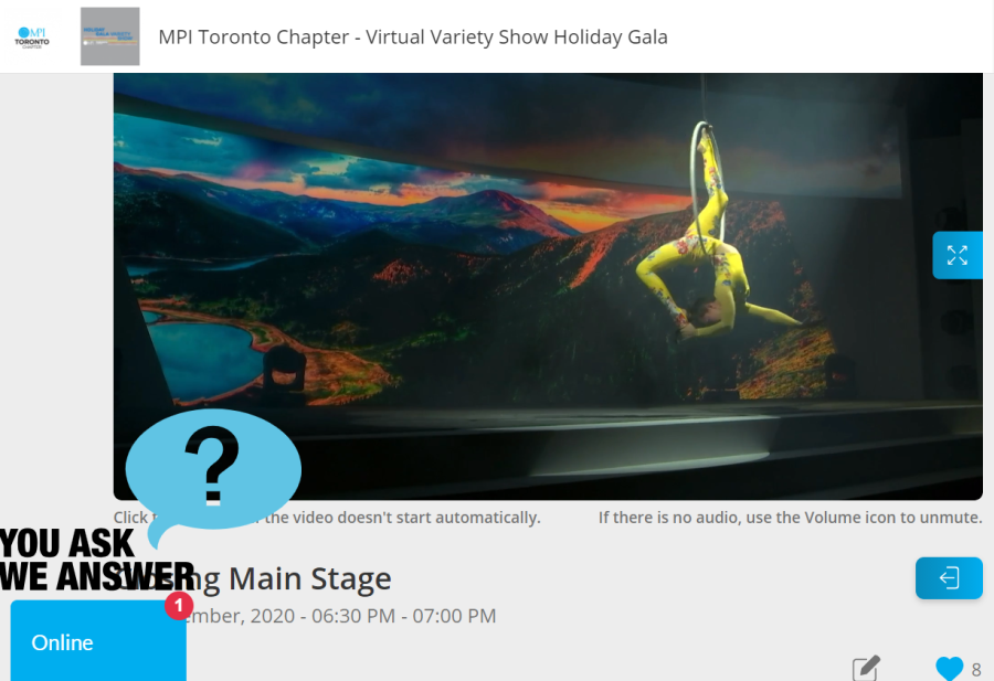 MPI Holiday Event Screenshot