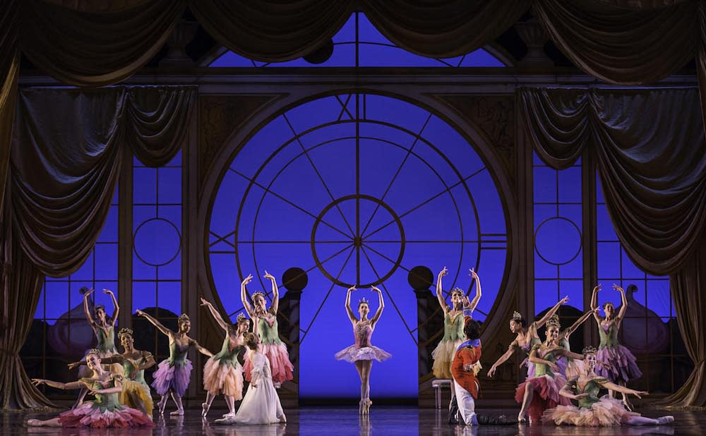 """Ballerinas in costume on stage performing BalletMet's annual holiday show """"The Nutcracker"""""""