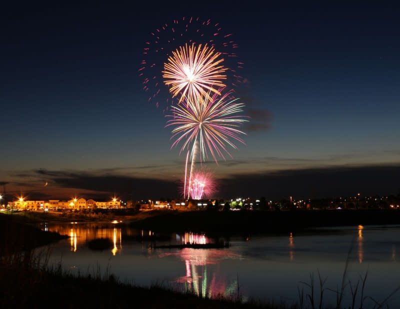 Fireworks at Maple Grove Days event