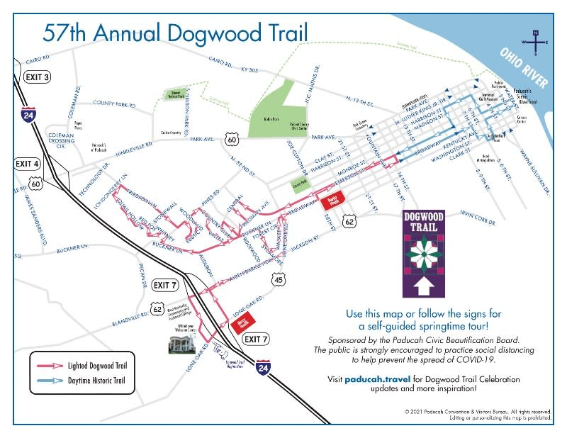 Map of annual Dogwood Trail route