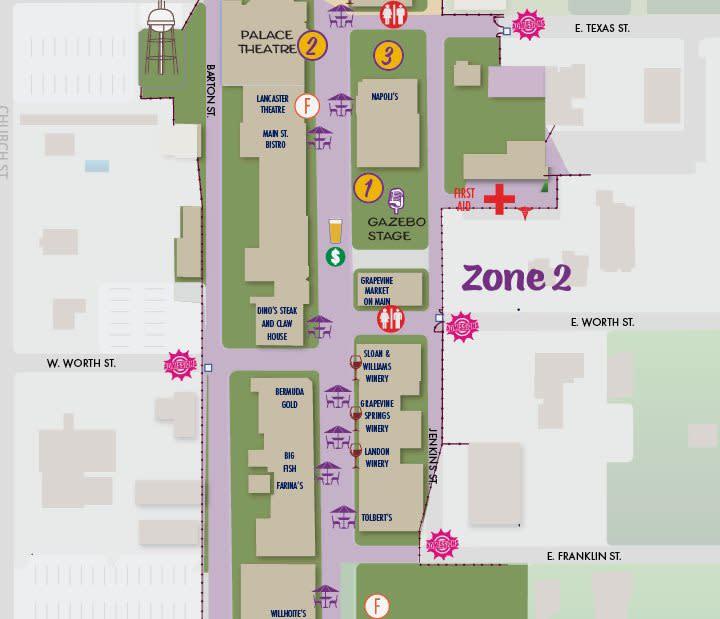 Main Street Fest Map 2
