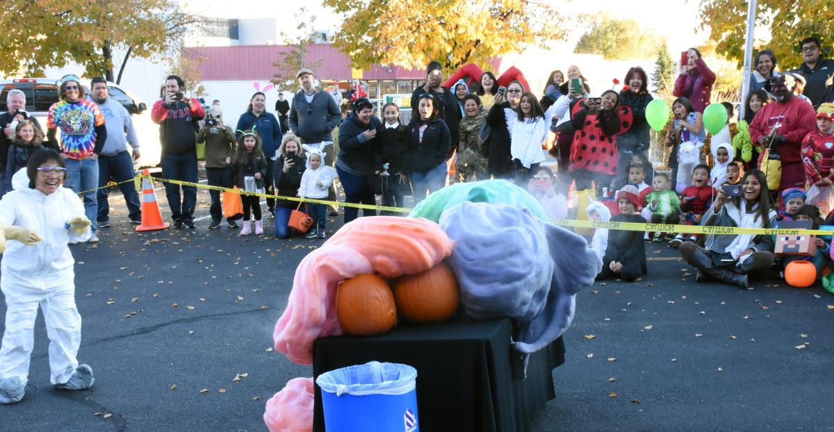 Bradbury Science Museum Halloween pumpkin explosion