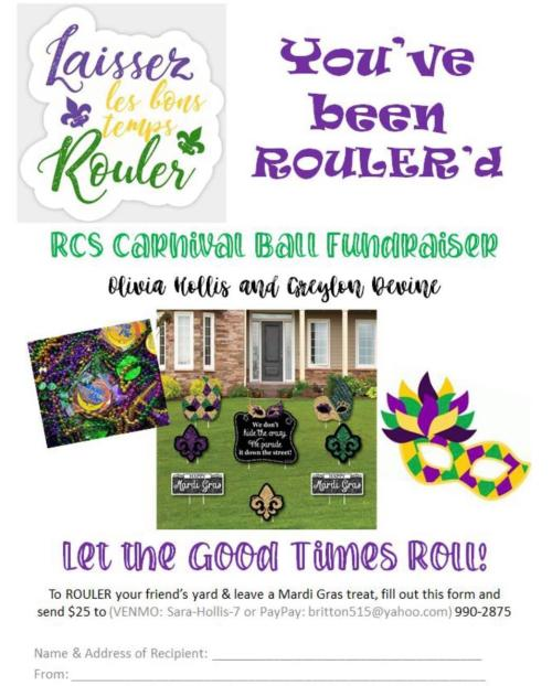 You've Been ROULER'd flyer