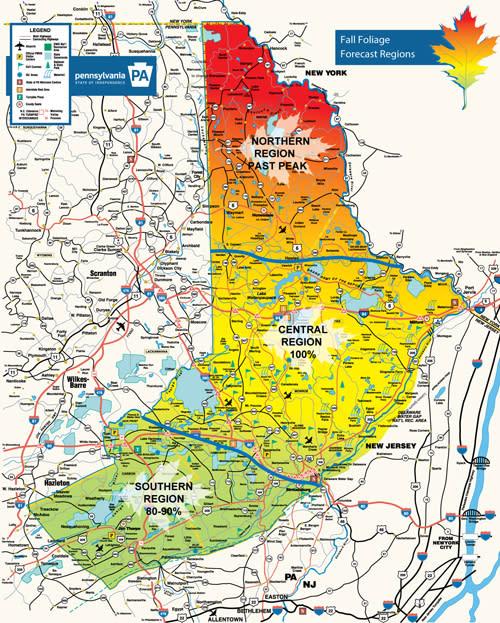 Fall Foliage Report for the Pocono Mountains