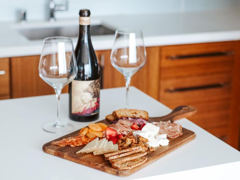 Marriott Irvine Spectrum Room with Wine & Charcuterie Board