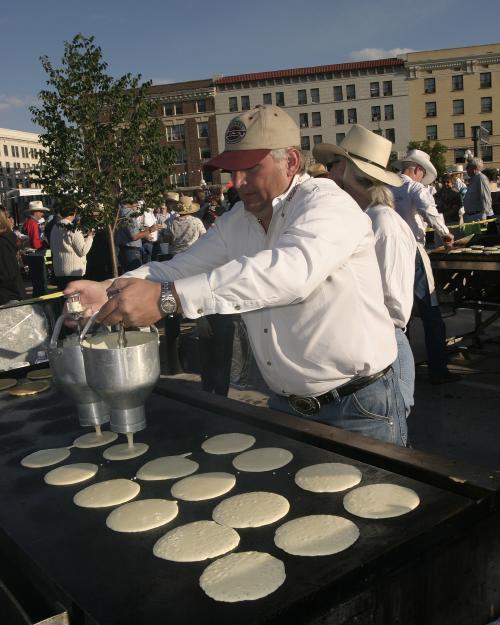 Pancake Breakfast Pouring