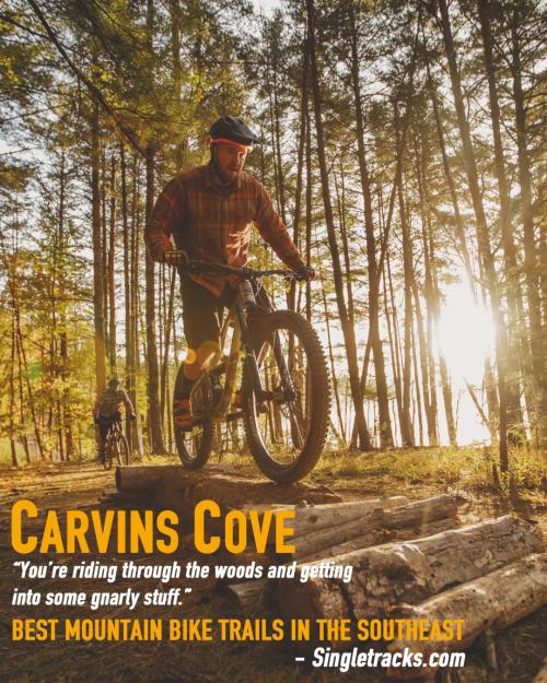 Mountain Biking at Carvins Cove - Roanoke, VA