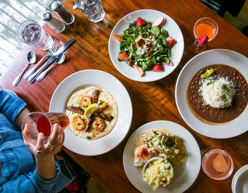 Four dishes from Uptown Cafe