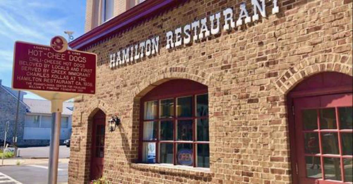 Exterior Of The Hamilton Restaurant In Carlisle, PA